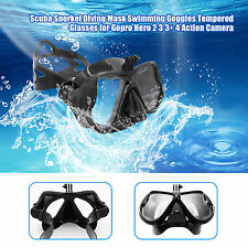 Diving Scuba Goggles Mask Tempered Glasses Lens for Gopro Hero 5/4/3+/3/2 SJ4000