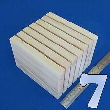 """LOT 7 x 5"""" x  7""""/ 130 x 180 mm WOODEN BLOCKS BUNDLE SET PINE WOOD NATURAL PLAQUE"""