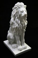 "15"" Sitting Aggressive Lion Italian Statue Sculpture Vittoria Made in Italy"