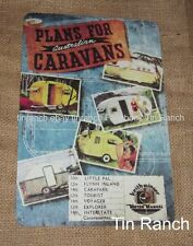 Australian VINTAGE CARAVAN plans TIN SIGN new Keith Winser cover picture RETRO
