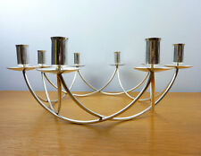 E. Dragsted Candelabrum Circular Mid Century Silver-plate Candelabra MCM 1957