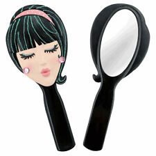 Trendy Girls Doll Face Hand Held Vanity Mirror -  Unique Birthday Gift for Her