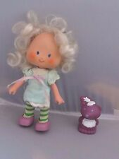 Vintage Strawberry Shortcake Angel Cake doll & pet Souffle Skunk