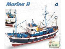 """Elegant, highly detailed wooden model ship kit by Artesania Latina: """"Marina II"""""""