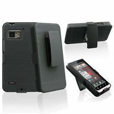 For Motorola Droid Bionic XT875 Case Cover+Holster+Belt Clip