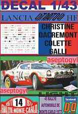 DECAL 1/43 LANCIA STRATOS HF C.DACREMONT R.MONTECARLO 1977 (LIGHT) (01)
