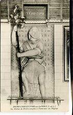 CP 37 Indre-et-Loire - Saint-Christophe-sur-le-Nais - Statue de St-Christophe