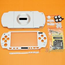 BRAND NEW FULL HOUSING OUTER LENS+BUTTON SET +SCREW SET FOR SONY PSP 2000 WHITE