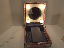VINTAGE 60S SHOW GIRL LIGHT UP MIRROR MAKE-UP TRAVEL ACCESSORY KIT-VERY RARE