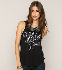 O'Neill Women Wild Love Black Sleeveless Tank Top Sz Small