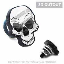 2 Skull 3D Cut Out Motorcycle License Plate Frame Bolts Tag Fasteners WHITE BLK