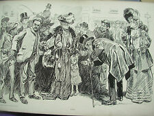 ANTIQUE 1905 PRINT CHARLES DANA GIBSON - LOST - LITTLE GIRL LOST