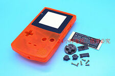 A Transparent Orange Housing Shell Case Cover Parts f Nintendo Gameboy Color GBC