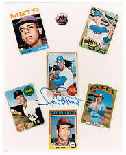 RON HUNT autographed color baseball cards glossy 8x10 photo