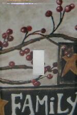 FAMILY BARN STAR BERRIES SINGLE TOGGLE SWITCH PLATE COVER # 2