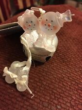 Christmas Ornament Congratulations On Your New Baby Snowman Couple NWT Bell