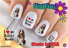 "RTG Set#109 DOG BREED ""Basset Hound Love"" WaterSlide Decals Nail Art Transfers"