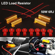 4 PCS 50W Load Resistor 6 ohm Fix LED Bulb Fast Hyper Flash Turn Signal Blinker