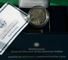 2001 P Buffalo Commemorative Silver PROOF Dollar US Mint Coin with Box & COA