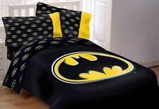 DC Comics Batman Kids Comforter Bed Set 3pcs Queen Size