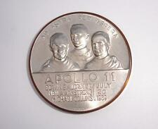 APOLLO 11 First on the Moon raised design Aldrin, Armstrong & Collins Medallion