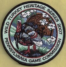 "Pa Pennsylvania Game Commission PREMIER ISSUE 4""  2007 Strutting Gobbler Patch"