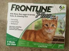Frontline Plus for Cats - 6 Month - Genuine EPA Approved Flea and Tick Treatment