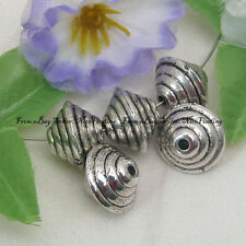50pcs Silver Plated CCB Plastic Spacers 11x14mm Fgp0182