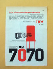 D317 - Advertising Pubblicità - 1959 - IBM 7070 NUOVO SISTEMA ELETTRONICO