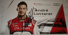 Le Mans 2013 - FIA WEC Silverstone Round1 - Audi - Andre Lotterer signed card
