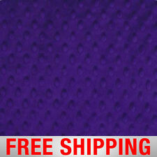 "Dimple Dots Minky Purple Fabric. 60"" Wide. Style# 12521. Free Shipping."
