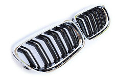 BLACK CHROME COLOR FINISH DOUBLE SPOKE SPORT GRILL FOR BMW E90 E91 FROM 08