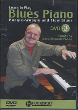Learn How to Play Blues Piano DVD 3 Boogie Woogie Slow Blues Tuition DVD