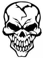 Skull Evil Funny Car Truck Window White Vinyl Decal Sticker Chevy Dodge Ford
