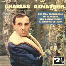 CHARLES AZNAVOUR For Me... Formidable FR Press Barclay 70518 EP