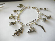 Aussie Animals Charm bracelet, 10 Aussie pewter charms