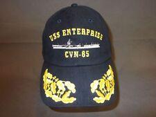 Baseballcap USS Enterprise CVN-65 als Admiral, blaue Kappe