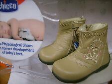 Scarpe primipassi stivali bambina CHICCO N. 23 Euro 62 beige pelle NUOVE!