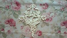 Shabby & Chic Floral Doves Acanthus Scroll Lg Center Furniture Applique