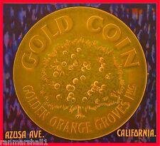 Azusa Los Angeles California Gold Coin Orange Citrus Fruit Crate Label Art Print