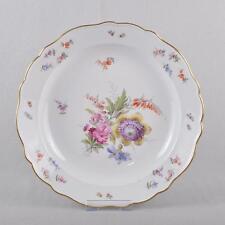 Meissen Blumen und Insekten große Platte, Teller, Anbietplatte, 30 cm, 1.Wahl