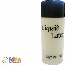 BOTTLE OF LIQUID LATEX - 1oz bottle - zombie flesh halloween fancy dress make up