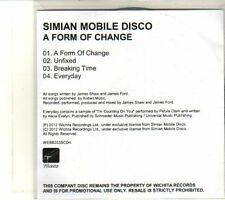 (DT826) Simian Mobile Disco, A Form Of Change - 2012 DJ CD