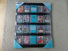 2 for $37.50  Baseball Card Display Holder 16 x 20 inch Holds 20 Cards Black