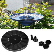 Solar Power Birdbath Water Floating Fountain Pump Pool for Garden Latest