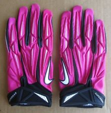 BCA NIKE NFL EQUIPMENT PRO SUPERBAD PADDED FOOTBALL GLOVES PINK/BLACK XLARGE