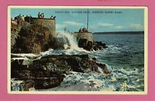 Unposted card. Rough sea at Anchor Head, Weston Super Mare, Somerset