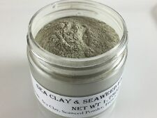 SEAWEED & SEA CLAY FACE MASK w/French Green Clay- Detox Brightens Reduce Acne