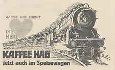 Y4791 Kaffee HAG - Illustrazione Treno - Pubblicità d'epoca - 1927 Old advert