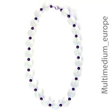 WMF Ikora Myra glas Hals kette mattiert Collier frosted glass necklace